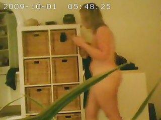 my voyeured abode wife after shower. hidden web