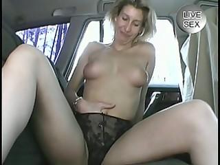 older non-professional masturbates herself in a