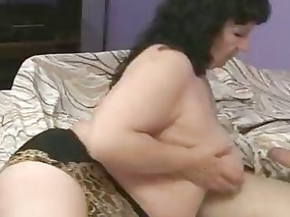Plump mature is fucking her old friend
