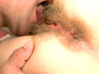 unsightly granny gets her shaggy snatch drilled
