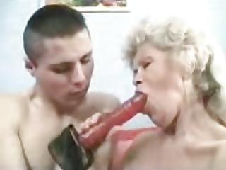 grandmother copulates her bf