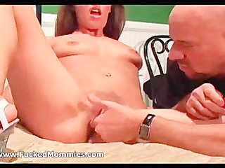 small titted mom acquires bushy beaver licked and