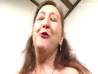 pierced granny in bisex some