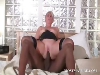 aged floozy t live without dark dick in her slit