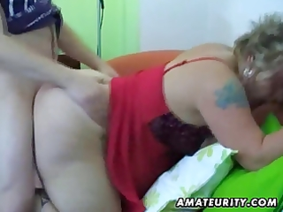 fat non-professional wife homemade engulf and