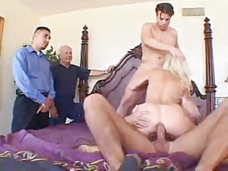 english golden-haired wife ganged on screw my wife