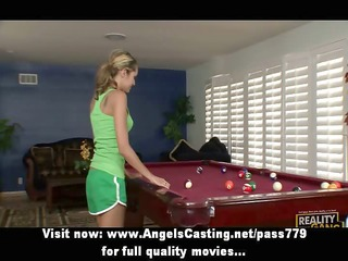 non-professional priceless blonde hotty with big