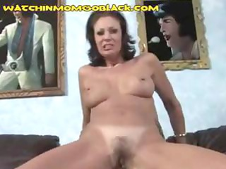 nasty dark brown mommy can playing with hard