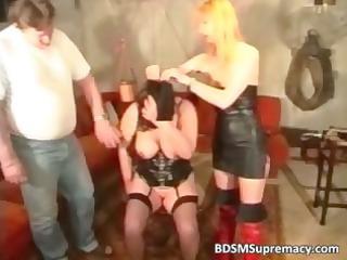 Fat mature slut loves BDSM games as she part4