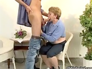 sexually excited aged woman acquires her unshaved