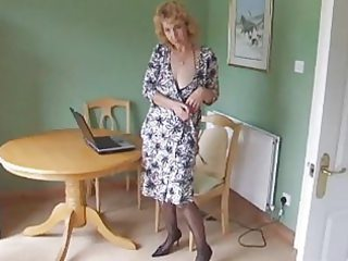 aged body stocking hose disrobe