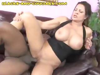 breasty dark brown mother i takes trio black meat