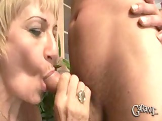blonde granny takes on cocks