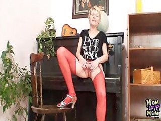 blond mother i in red stockings perverted fake