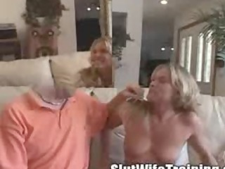 older blonde mommy on bitch training