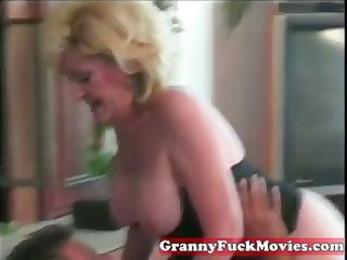 dishing out blond granny cunt