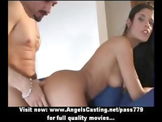 hot brunette hair dilettante mama getting pussy