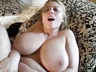 blonde mamma with large hangers (anal) drilled