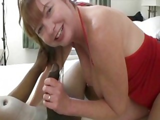 fat redhead d like to fuck plays with one