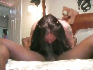 breasty wife with fake billibongs sucks and bonks