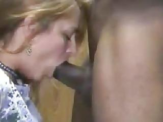 Sexy blonde wife interracial cuckold blowjob