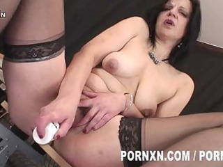 perverted aged lady wears nylons and likes to
