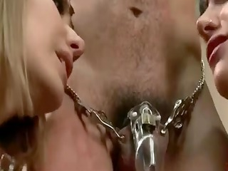 Wife brings her paramour to chastise cuckold