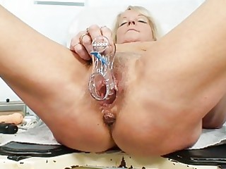 hot golden-haired granny wench acquires her bushy