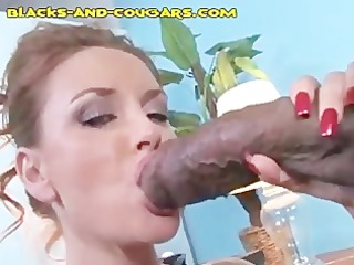redhead d like to fuck takes a darksome pounding
