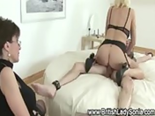 chubby older slut acquires s garb and rides jock