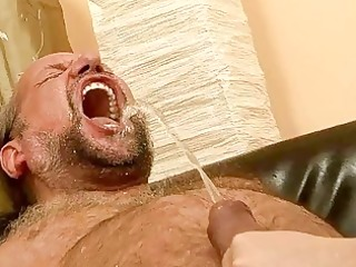grand-dad fucking and pissing on naughty redhead