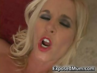 non-professional mum slamming on a big thug ramrod
