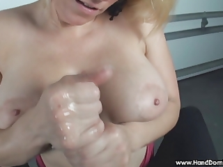verbal humiliation of small penis by busty blonde
