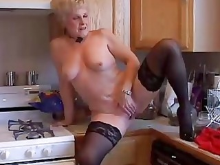 very hot grandma has a soaking moist fur pie