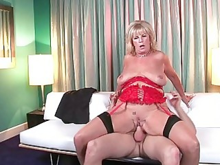 hawt and concupiscent mother i wench teasing with