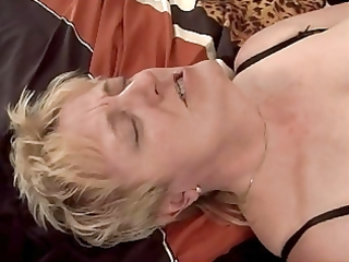 golden-haired granny fisted and drilled
