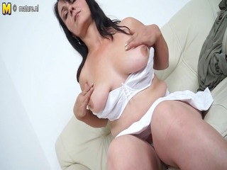 Hawt mother masturbating when this babe is all
