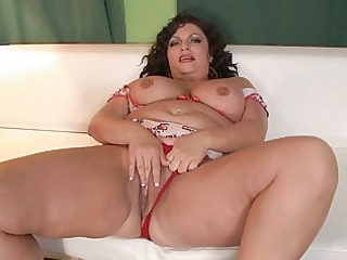 concupiscent milf fatty receives pounded on white