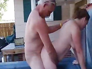 my boss copulates my wife in the outdoor spa