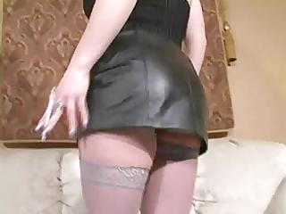 hawt golden-haired d like to fuck in heels smokin