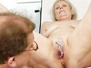 mature old brigita getting muff exam from experie