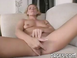 lustful golden-haired mamma fingers and copulates