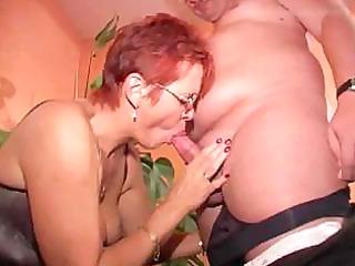 redhead granny in nylons bonks