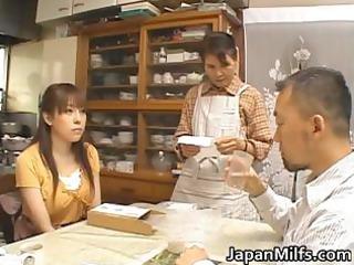 concupiscent japanese milfs engulfing and fucking