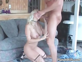 golden-haired concupiscent milf getting