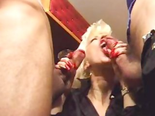 slutty mother double permeated by allies on the