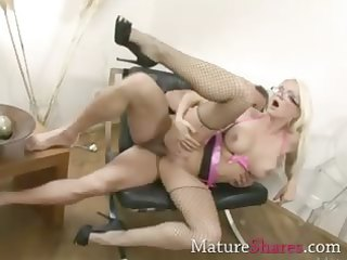 firm fishnet golden-haired d like to fuck