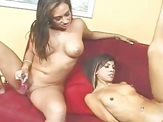 hot mommy and slim daughter need a cock