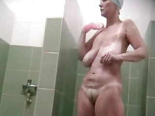 aged wife in the shower