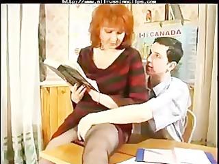 older teaches her student russian cumshots gulp